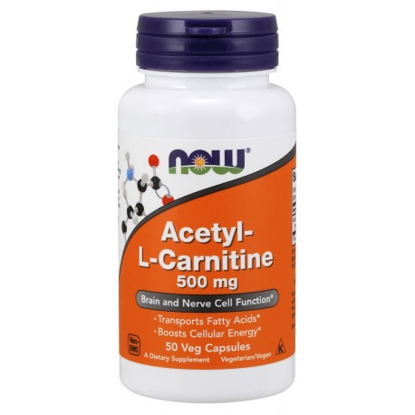 NOW - Acetyl L-Carnitine 500 МГ