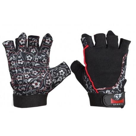 Black Flower-Дамски фитнес ръкавици