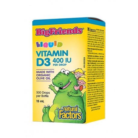 Витамин D3 Big Friends за деца 400 IU