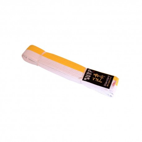 Бяло-жълт   колан за таекуондо