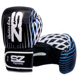 Боксови ръкавици    телешка кожа- Plasma - Blue